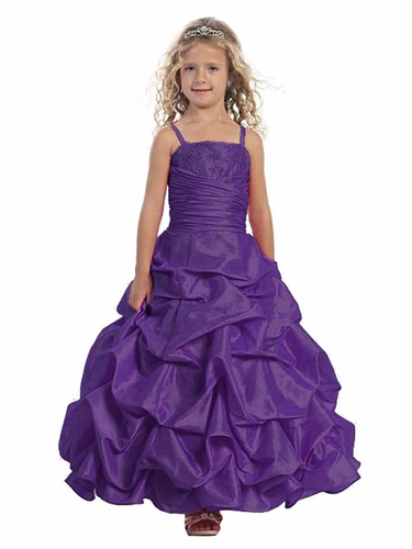 Purple Pick-Up Style Full Length Dress w/ Matching Bolero