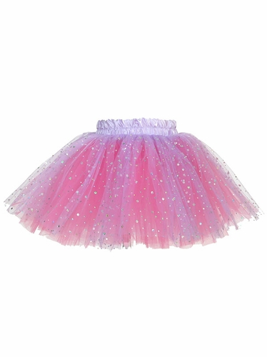 Purple & Pink Laser Dot Tutu Skirt