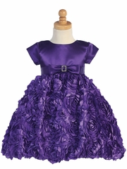 Swea Pea & Lilli Purple Satin Bodice w/ Floral Ribboned Skirt