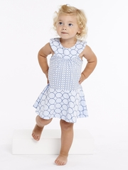 rabbitmoon Forget Me Not Blue Imagine Circle Yoke Dress