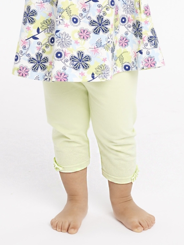 rabbitmoon Spring Green Sophie Capri Legging w/ Ruching