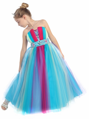 Rainbow Pageant Dress
