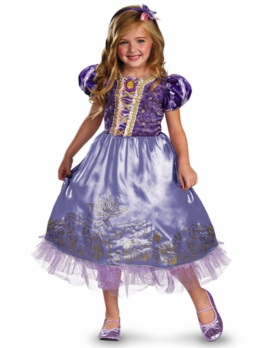 Rapunzel Sparkle Deluxe Girls Costume