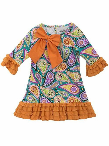 Rare Editions Paisley Knit Dress
