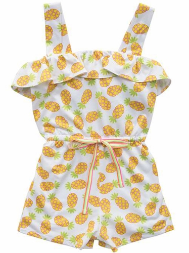 Rare Editions Pineapple Mesh Romper