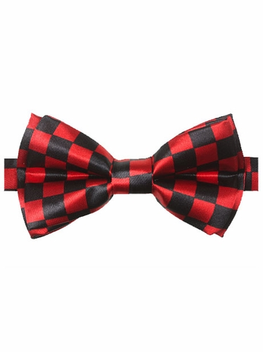 Red & Black Checkered Kid Bowtie