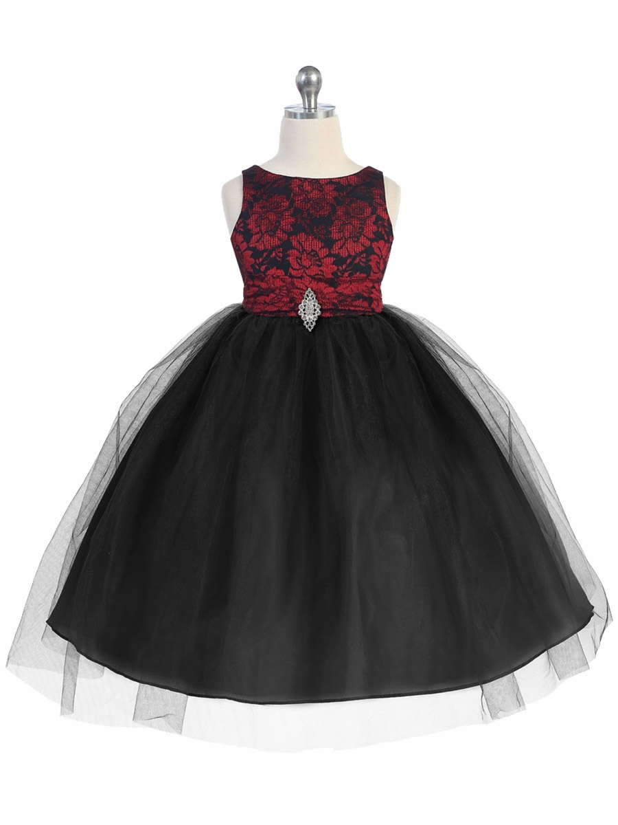 ... Girl s Holiday   Christmas Dresses   Red   Black Lace Bodice Tulle w   Overlay Skirt. Click to Enlarge c109af095