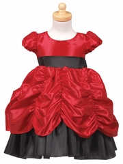Red/Black Princess Taffeta Dress