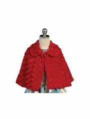 CLEARANCE - Red Faux Fur Cape