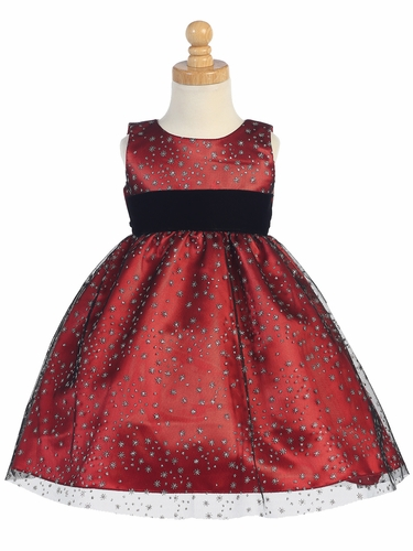 Red Glitter Tulle Holiday Dress