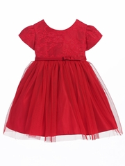 Red Lace Ballerina Dress