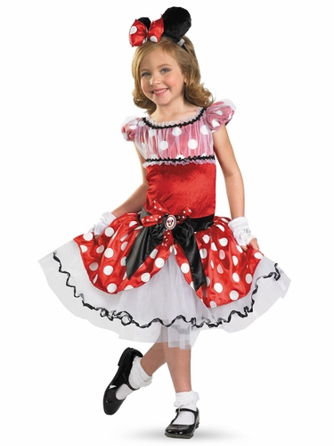 Red Minnie Tutu Girls Costume