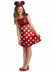 Red Minnie Tween Costume