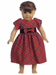 "Swea Pea & Lilli Red Plaid 18"" Doll Dress"