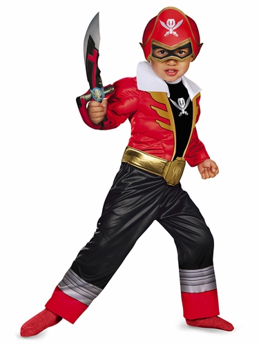 Red Ranger Super Megaforce Toddler Muscle Costume