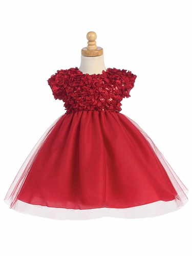 Red Ribboned Tulle Dress w/ Tulle Skirt