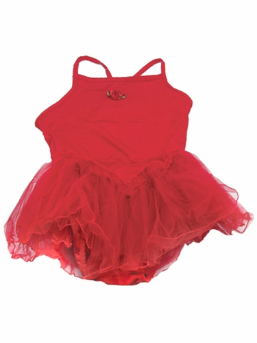 Red Spaghetti Strap Tutu Dress