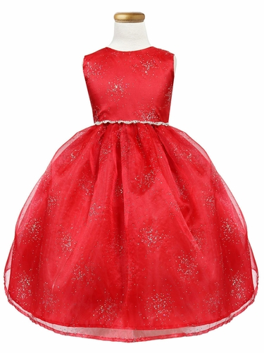 Red Star Dust Organza Dress