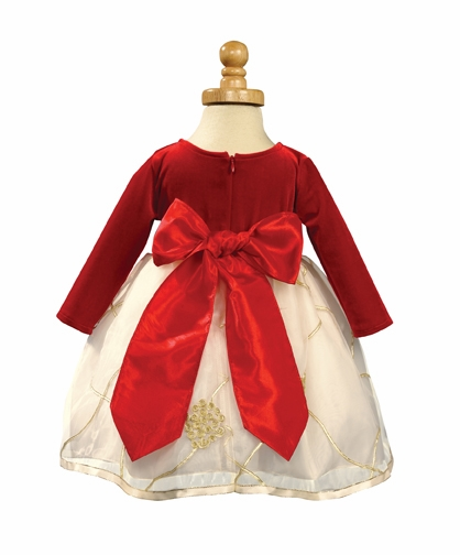 a5c3219ff1 ... Red Stretch Velvet Bodice with Embroidered Organza Skirt. Click to  Enlarge Click to Enlarge