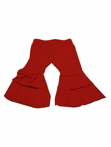 Red Trish Scully Ruffle Leggings
