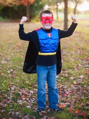 Reversible Superhero Tunic/Cape & Mask