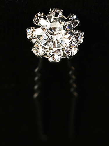 Rhinestone Diamond Circle Hair Pin