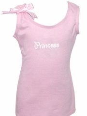 Rhinestone Princess Pink Tank Top