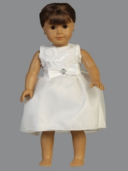 "Ribbon Tulle 18"" Doll Dress"