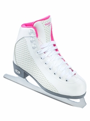 CLEARANCE - Riedell Ice Skates 13 White & Sparkling Pink Girls Shoes