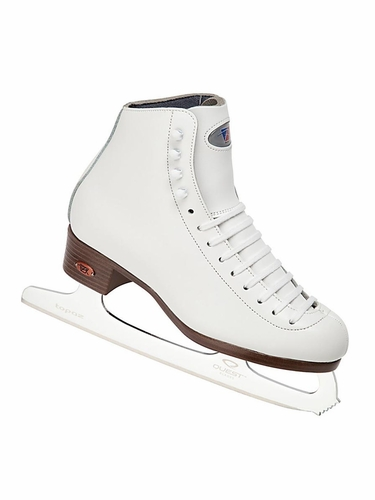 Riedell White Ice Skates 121 Ladies Shoes