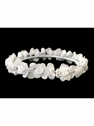 Rose Braided White Wreath