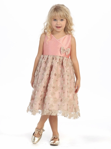 Rose Scattered Rosette Dress