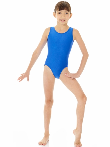 Mondor Royal Blue Shiny Tank Leotard