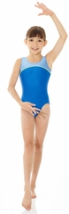 Mondor Royal Blue  Shiny Tank Leotard w/ Combination of Neon Colors