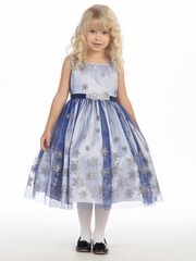 Royal Blue Snowflake Holiday Dress