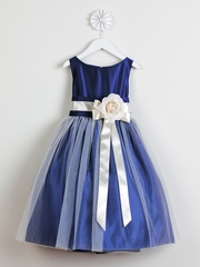 Royal Blue Vintage Satin Tulle Dress