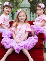 CLEARANCE: RuffleButts Pink Birthday Ruffle Tee