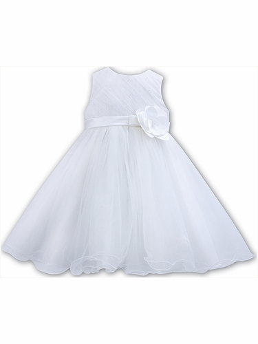 Sarah Louise 070089 White Ceremonial Ballerina Length Dress