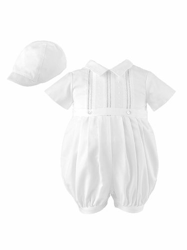 Sarah Louise Boys Cotton Mix Romper Set