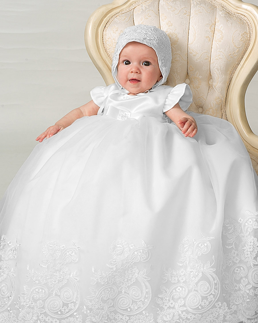 Girls Dress Line sells affordable flower girl dresses, bridesmaid dresses for wedding party, first communion, pageant, Easter dresses, boys tuxedos.