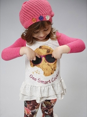CLEARANCE - SaraSara Neon One Smart Cookie Tunic w/ Chocolate Leggings