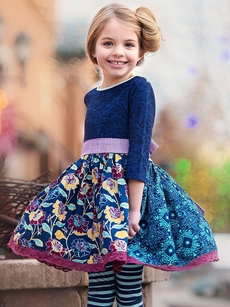 yellow and blue gowns for kids