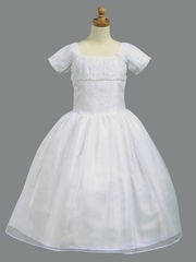 Short Sleeve Satin Bodice w/ Organza Skirt