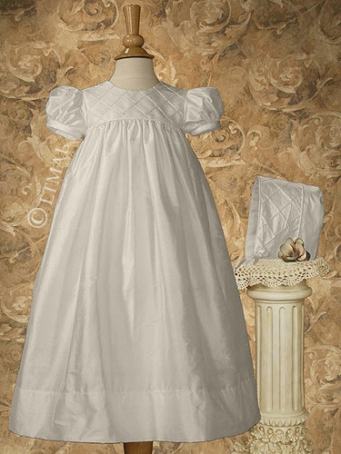 "Silk Dupioni 26"" Christening Dress"