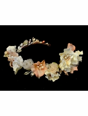 Silk Flower Pearl Headband