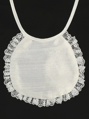 Silk & Lace Christening Bib
