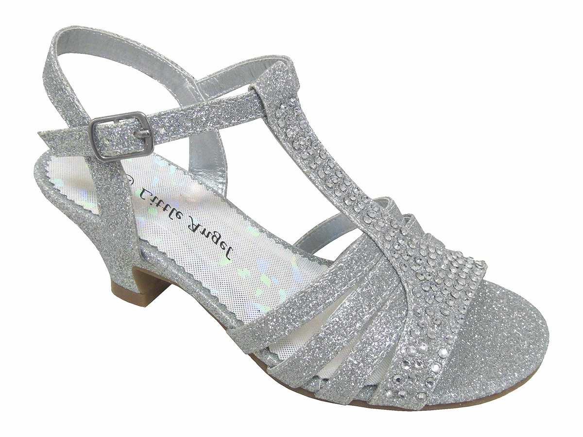 Silver Dress Sandals w/ Rhinestones