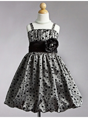 Silver Polka Dot Bubble Dress