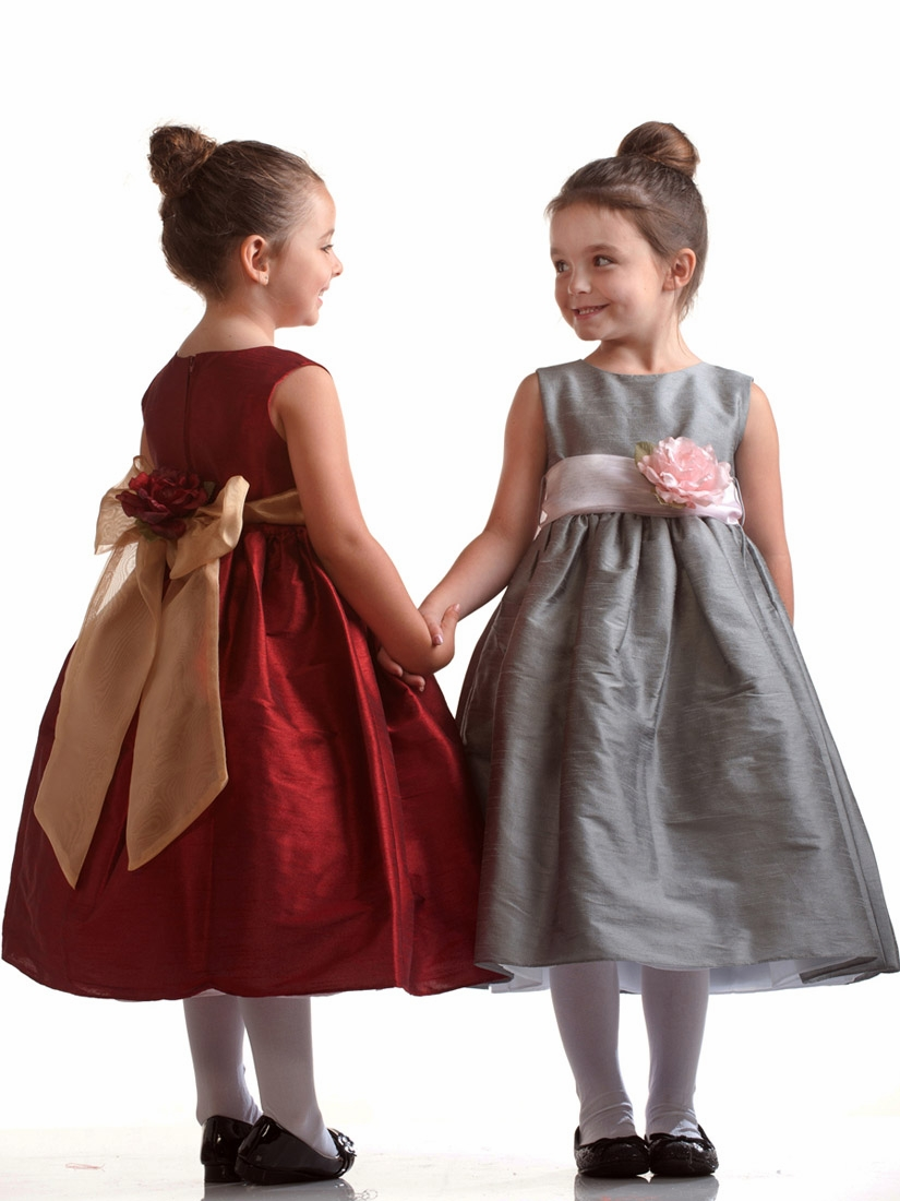 Silver polyester dupioni dress w pink organza sash flower girl dresses silver polyester dupioni dress w pink organza sash click to enlarge click to enlarge mightylinksfo