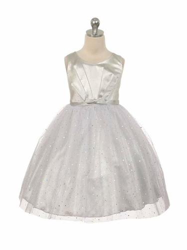 Silver Sparkly Tulle Dress